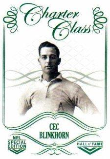 2018 NRL Glory Hall of Fame Charter Class CC16 Cec Blinkhorn