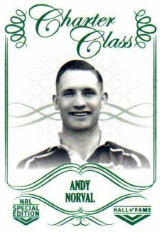 2018 NRL Glory Hall of Fame Charter Class CC37 Andy Norval