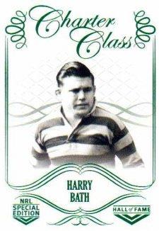 2018 NRL Glory Hall of Fame Charter Class CC40 Harry Bath