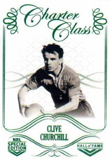 2018 NRL Glory Hall of Fame Charter Class CC43 Clive Churchill