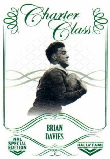 2018 NRL Glory Hall of Fame Charter Class CC47 Brian Davies