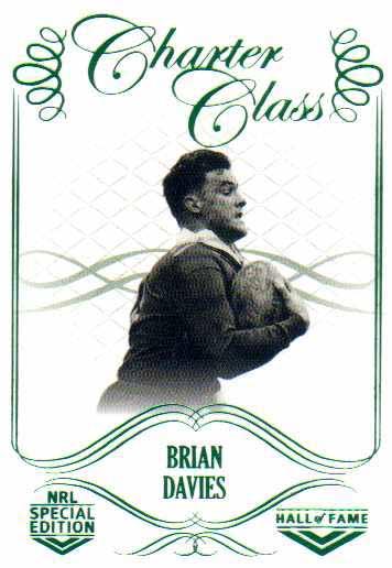 2018 NRL Glory Hall of Fame Charter Class CC47 Brian Davies