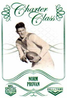 2018 NRL Glory Hall of Fame Charter Class CC48 Norm Provan