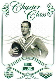 2018 NRL Glory Hall of Fame Charter Class CC55 Eddie Lumsden
