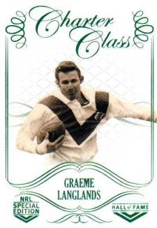 2018 NRL Glory Hall of Fame Charter Class CC68 Graeme Langlands