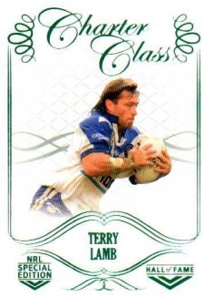 2018 NRL Glory Hall of Fame Charter Class CC86 Terry Lamb