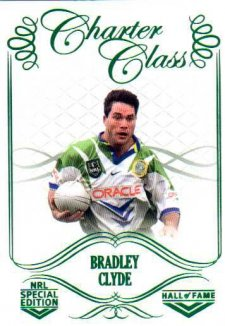 2018 NRL Glory Hall of Fame Charter Class CC95 Bradley Clyde