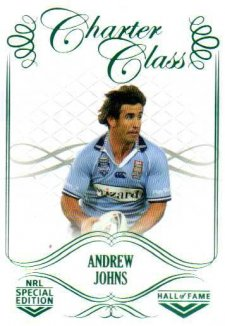 2018 NRL Glory Hall of Fame Charter Class CC97 Andrew Johns