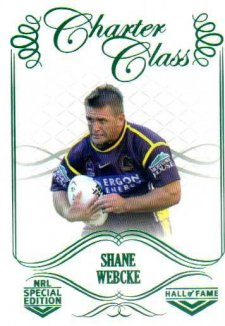 2018 NRL Glory Hall of Fame Charter Class CC98 Shane Webcke
