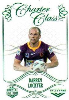 2018 NRL Glory Hall of Fame Charter Class CC99 Darren Lockyer