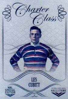 2018 NRL Glory Hall of Fame Charter Class Chrome CCC13 Les Cubitt