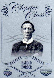 2018 NRL Glory Hall of Fame Charter Class Chrome CCC15 Harold Horder