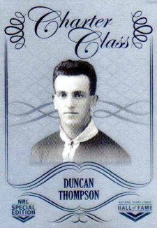 2018 NRL Glory Hall of Fame Charter Class Chrome CCC17 Duncan Thompson