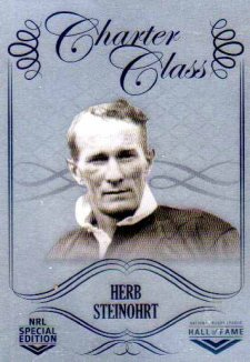 2018 NRL Glory Hall of Fame Charter Class Chrome CCC25 Herb Steinohrt