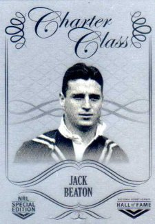 2018 NRL Glory Hall of Fame Charter Class Chrome CCC36 Jack Beaton