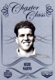 2018 NRL Glory Hall of Fame Charter Class Chrome CCC38 Herb Narvo