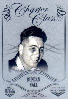 2018 NRL Glory Hall of Fame Charter Class Chrome CCC44 Duncan Hall