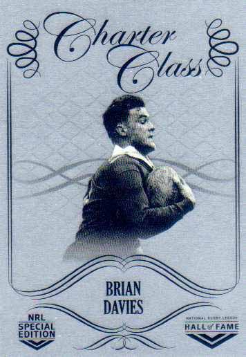 2018 NRL Glory Hall of Fame Charter Class Chrome CCC47 Brian Davies