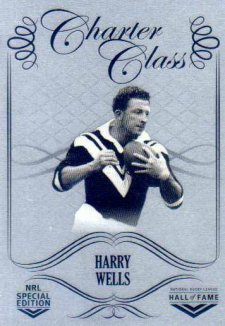 2018 NRL Glory Hall of Fame Charter Class Chrome CCC49 Harry Wells