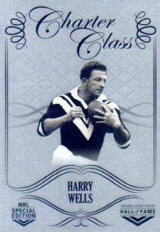 2018 NRL Glory Hall of Fame Charter Class Chrome CCC49 Harry Wells