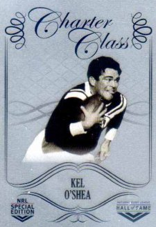 2018 NRL Glory Hall of Fame Charter Class Chrome CCC52 Kel O'Shea