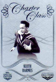 2018 NRL Glory Hall of Fame Charter Class Chrome CCC54 Keith Barnes