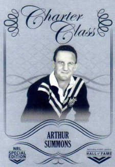 2018 NRL Glory Hall of Fame Charter Class Chrome CCC64 Arthur Summons