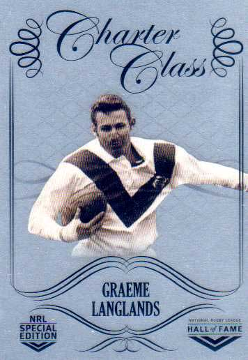 2018 NRL Glory Hall of Fame Charter Class Chrome CCC68 Graeme Langlands