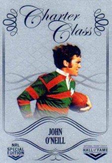 2018 NRL Glory Hall of Fame Charter Class Chrome CCC73 John O'Neill