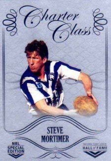 2018 NRL Glory Hall of Fame Charter Class Chrome CCC78 Steve Mortimer