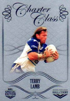 2018 NRL Glory Hall of Fame Charter Class Chrome CCC86 Terry Lamb