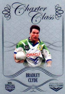 2018 NRL Glory Hall of Fame Charter Class Chrome CCC95 Bradley Clyde