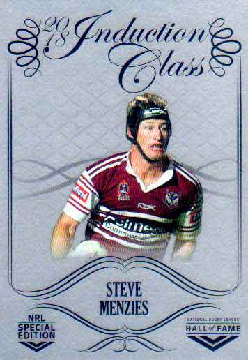 2018 NRL Glory Hall of Fame Induction Class Chrome CCC104 Steve Menzies