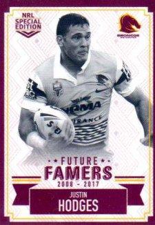 2018 NRL Glory Future Famers FF1 Justin Hodges Broncos