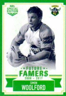 2018 NRL Glory Future Famers FF4 Simon Woolford Raiders