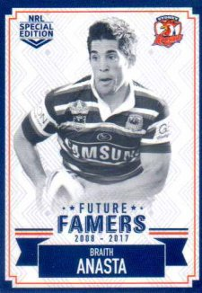 2018 NRL Glory Future Famers FF27 Braith Anasta Roosters