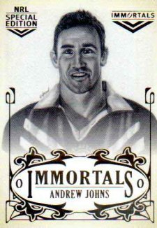 2018 NRL Glory Immortals Sketch IMSK8 Andrew Johns