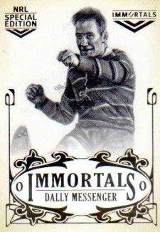 2018 NRL Glory Immortals Sketch IMSK9 Dally Messenger