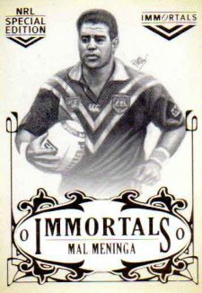2018 NRL Glory Immortals Sketch IMSK13 Mal Meninga