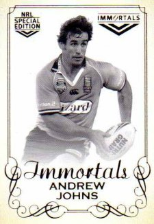 2018 NRL Glory Immortals Photo IMP8 Andrew Johns