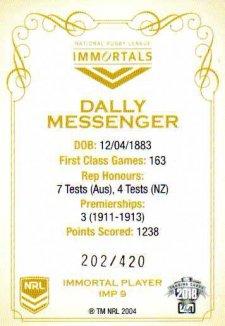 2018 NRL Glory Immortals Photo IMP9 Dally Messenger