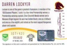 2018 NRL Glory Future Famers Signature FFS1 Darren Lockyer Broncos