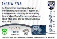 2018 NRL Glory Future Famers Signature FFS2 Andrew Ryan Bulldogs