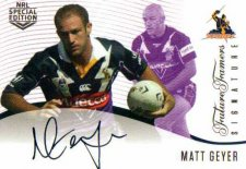 2018 NRL Glory Future Famers Signature FFS5 Matt Geyer Storm
