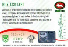 2018 NRL Glory Future Famers Signature FFS10 Roy Asotasi Rabbitohs