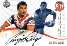 2018 NRL Glory Future Famers Signature FFS12 Craig Wing Roosters