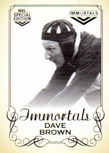 2018 NRL Glory Immortal Photo Case Card IMPC11 Dave Brown