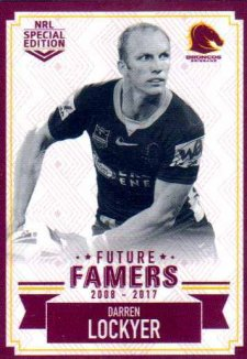 2018 NRL Glory Future Famers FF2 Darren Lockyer Broncos