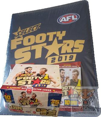 2019 AFL Footy Stars Box and Folder Combo