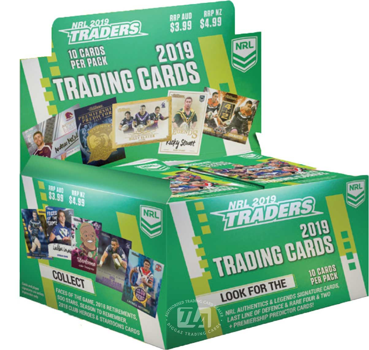 2018 TLA NRL Traders Factory Sealed Trading Card Box (36 Packs)